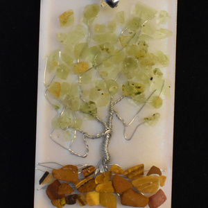 Tree of Life Pendent with Semi-Precious stones